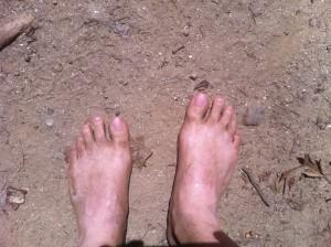 My bare feet